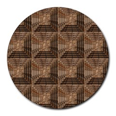 Collage Stone Wall Texture Round Mousepads