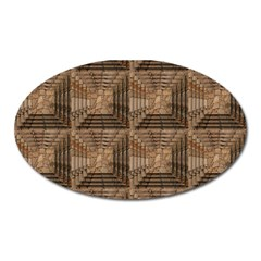 Collage Stone Wall Texture Oval Magnet
