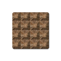 Collage Stone Wall Texture Square Magnet