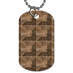 Collage Stone Wall Texture Dog Tag (two Sides)