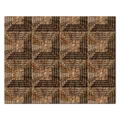Collage Stone Wall Texture Rectangular Jigsaw Puzzl