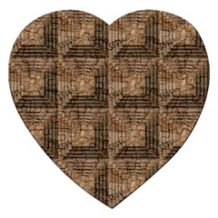 Collage Stone Wall Texture Jigsaw Puzzle (Heart)