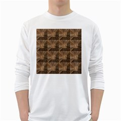 Collage Stone Wall Texture White Long Sleeve T Shirts