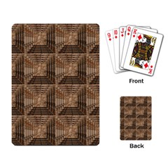 Collage Stone Wall Texture Playing Card