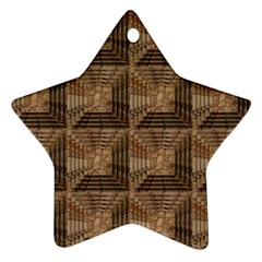Collage Stone Wall Texture Star Ornament (two Sides)