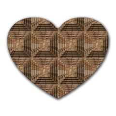 Collage Stone Wall Texture Heart Mousepads