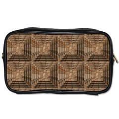 Collage Stone Wall Texture Toiletries Bags 2 Side