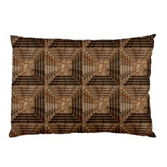 Collage Stone Wall Texture Pillow Case (Two Sides)