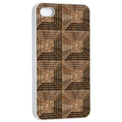 Collage Stone Wall Texture Apple Iphone 4/4s Seamless Case (white)