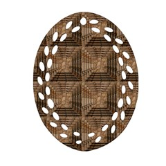 Collage Stone Wall Texture Ornament (Oval Filigree)