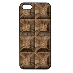 Collage Stone Wall Texture Apple Iphone 5 Seamless Case (black)