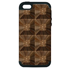 Collage Stone Wall Texture Apple iPhone 5 Hardshell Case (PC+Silicone)
