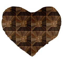 Collage Stone Wall Texture Large 19  Premium Heart Shape Cushions