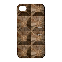 Collage Stone Wall Texture Apple iPhone 4/4S Hardshell Case with Stand