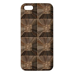 Collage Stone Wall Texture Apple iPhone 5 Premium Hardshell Case