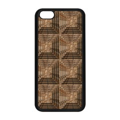 Collage Stone Wall Texture Apple Iphone 5c Seamless Case (black)