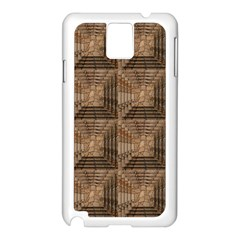 Collage Stone Wall Texture Samsung Galaxy Note 3 N9005 Case (white)
