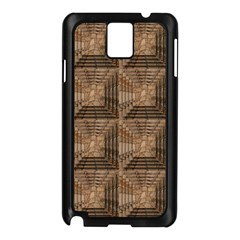 Collage Stone Wall Texture Samsung Galaxy Note 3 N9005 Case (Black)