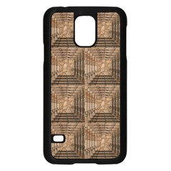 Collage Stone Wall Texture Samsung Galaxy S5 Case (black)