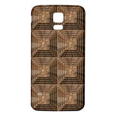 Collage Stone Wall Texture Samsung Galaxy S5 Back Case (White)