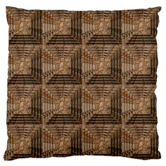 Collage Stone Wall Texture Large Flano Cushion Case (Two Sides)