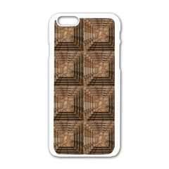 Collage Stone Wall Texture Apple Iphone 6/6s White Enamel Case