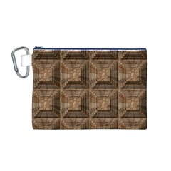 Collage Stone Wall Texture Canvas Cosmetic Bag (M)