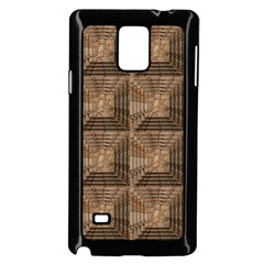 Collage Stone Wall Texture Samsung Galaxy Note 4 Case (Black)