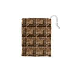 Collage Stone Wall Texture Drawstring Pouches (XS)