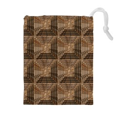 Collage Stone Wall Texture Drawstring Pouches (Extra Large)