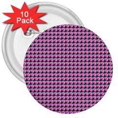 Pattern Grid Background 3  Buttons (10 pack)