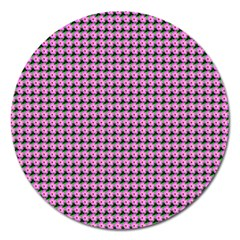 Pattern Grid Background Magnet 5  (Round)