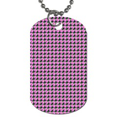 Pattern Grid Background Dog Tag (one Side)