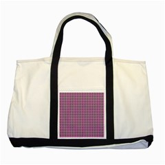 Pattern Grid Background Two Tone Tote Bag