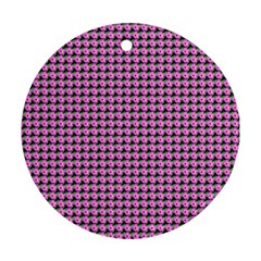 Pattern Grid Background Round Ornament (two Sides)