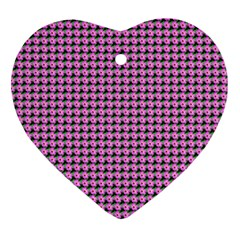 Pattern Grid Background Heart Ornament (Two Sides)