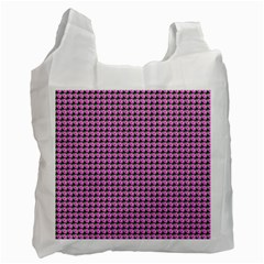 Pattern Grid Background Recycle Bag (one Side)