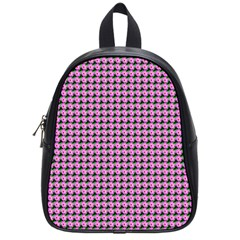 Pattern Grid Background School Bags (Small)