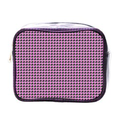 Pattern Grid Background Mini Toiletries Bags