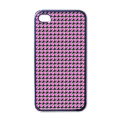 Pattern Grid Background Apple iPhone 4 Case (Black)