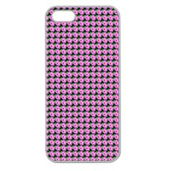 Pattern Grid Background Apple Seamless iPhone 5 Case (Clear)