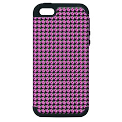 Pattern Grid Background Apple Iphone 5 Hardshell Case (pc+silicone)