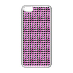 Pattern Grid Background Apple iPhone 5C Seamless Case (White)