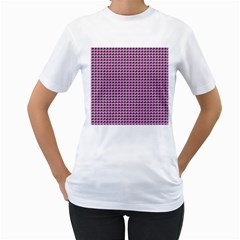 Pattern Grid Background Women s T Shirt (white)