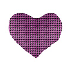 Pattern Grid Background Standard 16  Premium Flano Heart Shape Cushions