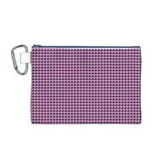 Pattern Grid Background Canvas Cosmetic Bag (m)