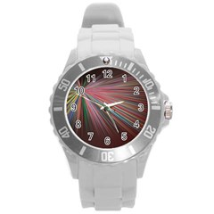 Background Vector Backgrounds Vector Round Plastic Sport Watch (l)