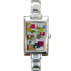 Decor Painting Design Texture Rectangle Italian Charm Watch