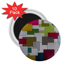 Decor Painting Design Texture 2.25  Magnets (10 pack)