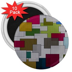 Decor Painting Design Texture 3  Magnets (10 Pack)